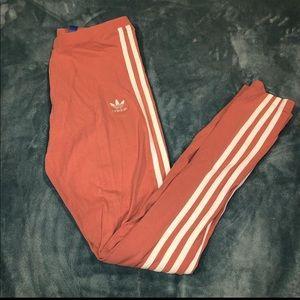 Pink adidas leggings